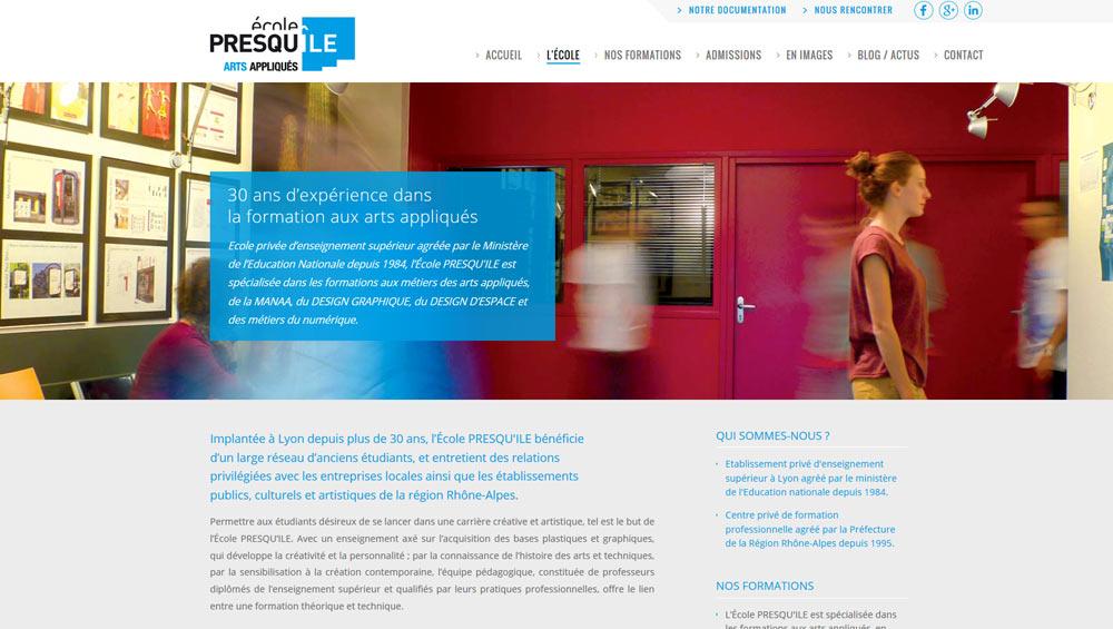 ... Site internet Ecole Presqu Ile à Lyon, Refonte et référencement, Hervé  Augoyat ... 3718cb2c284a