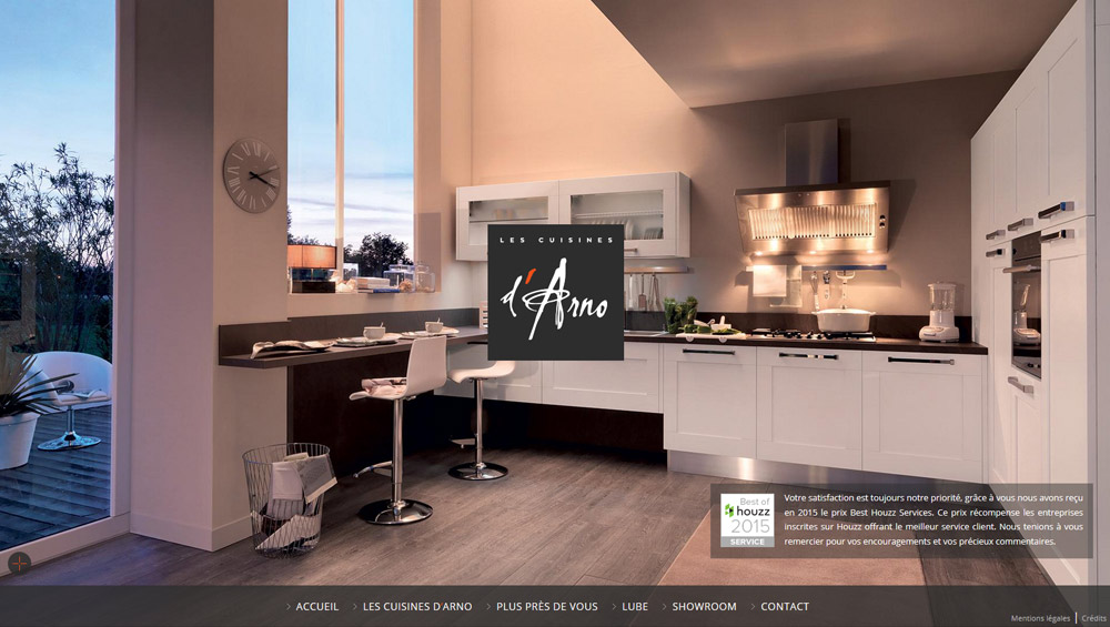 Les cuisines d 39 arno cr ation site web lyon for Creation cuisine en ligne