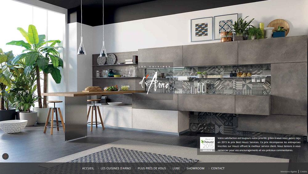 Les Cuisines D Arno Création Site Web à Lyon
